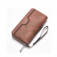 image of Baellerry S1513 Handphone Men Women Wallet Long Purse Leather