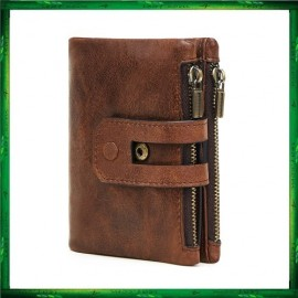 image of 2059 Leather Coin Purse Short Wallet Men Women