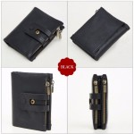2059 Leather Coin Purse Short Wallet Men Women