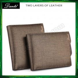 image of Dante Men Premium Leather Short Wallet Purse (with Dante Original box)