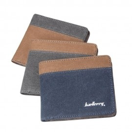 image of 4GL BAELLERRY Canvas Men Wallet Purse D3388 Cross