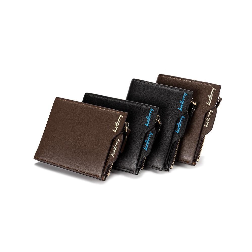 4GL BAELLERRY Men Women Short Wallet Purse D0888 Vertical