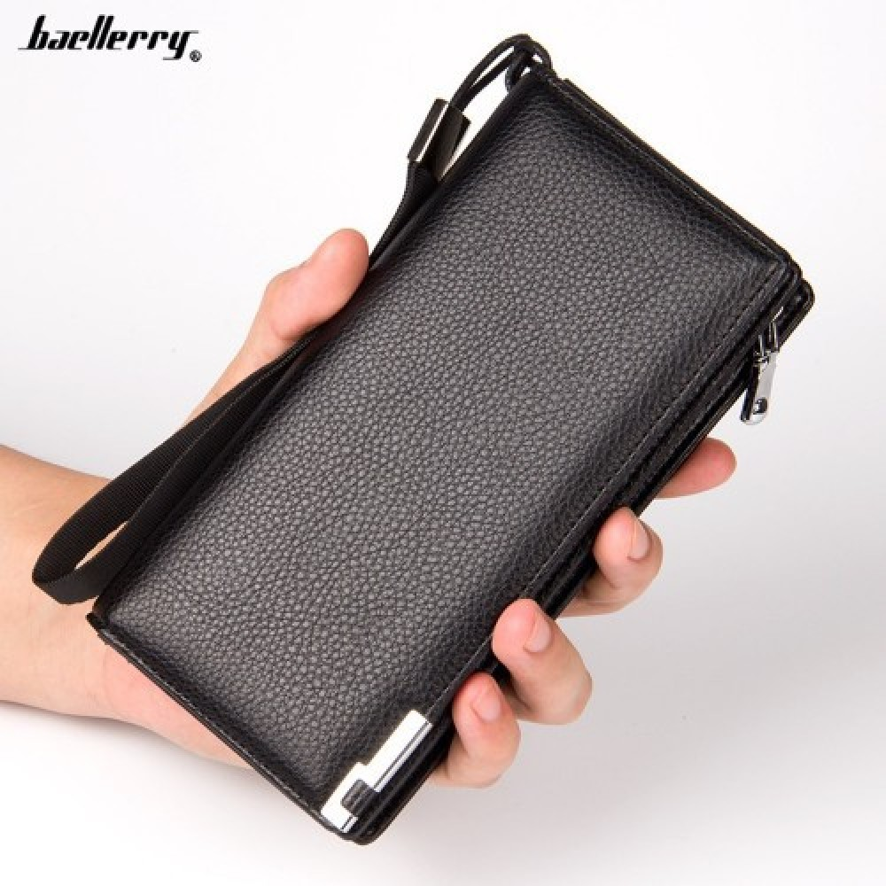 Baellerry S040 Men Women Long Wallet Purse Leather Bag Big Capacity