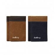 image of 4GL BAELLERRY Men Canvas Wallet Wallet Card Holder Purse Dompet 3688