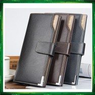 image of Baellerry Men Women Wallet Long Purse Leather CK20 (without zip)