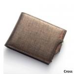 4GL Baellerry Men Women Wallet Short Purse Leather DP822 Cross
