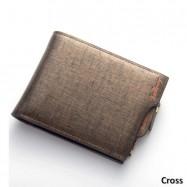 image of 4GL Baellerry Men Women Wallet Short Purse Leather DP822 Cross
