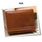 4GL BAELLERRY Leather Wallet Men Short Wallet Dompet 208-A04