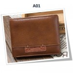 4GL BAELLERRY Leather Wallet Men Short Wallet Dompet 208-A01