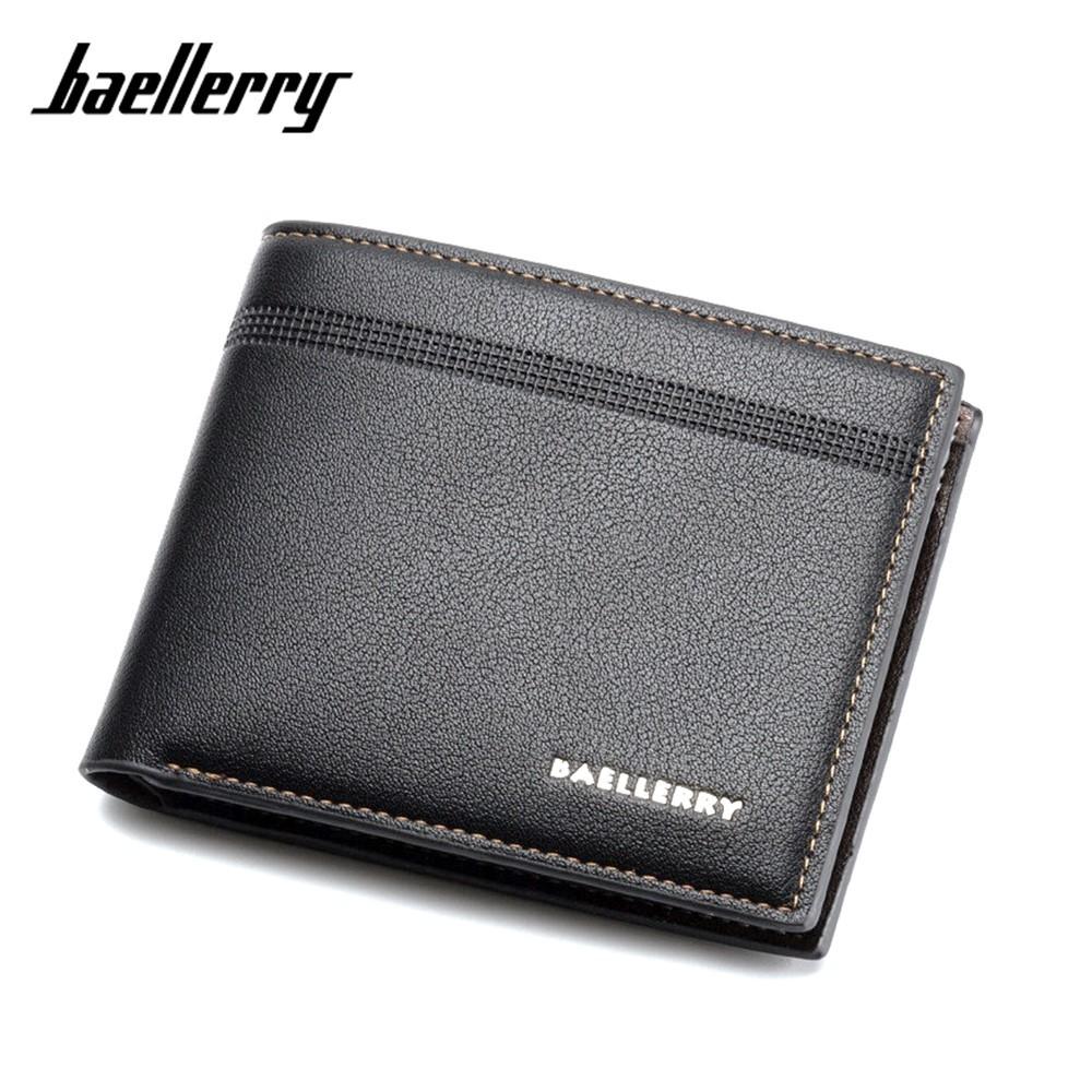 4GL BAELLERRY Minimalist Simple Men Short Wallet Leather Dompet DR003