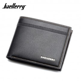 image of 4GL BAELLERRY Minimalist Simple Men Short Wallet Leather Dompet DR003
