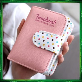 image of 4GL Trena Korean Fashion Short Purse Wallet With Coin Pocket Zip