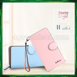 image of 4GL Baellerry Handphone Purse Long Design Zip Wallet Wristlet 13845-3