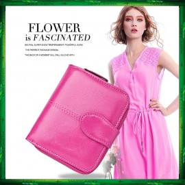image of 4GL Fashion Lady Oil Wax Leather Short Purse Wallet Wallets Bag Beg Women 1615