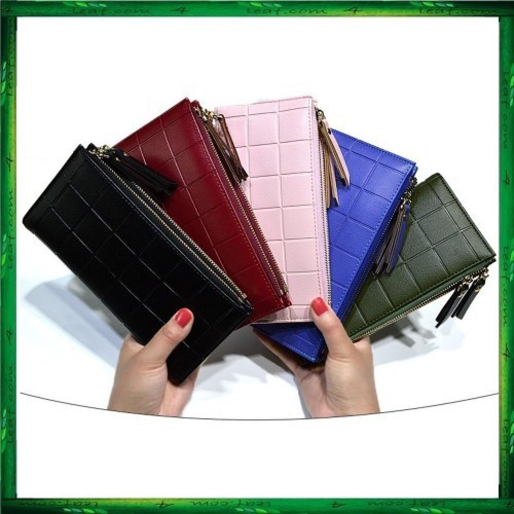 4GL Baellerry Women 10 Card Holder Coin Bag Double Zipper Long Wallet Y138