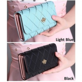 image of 4GL Korean Fashion Women Long Purse Clutch Crown 738