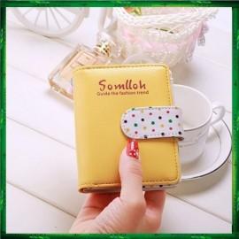 image of 4GL Somlloh Polka Dots PU Leather Multiple Credit Cards Holder Bag