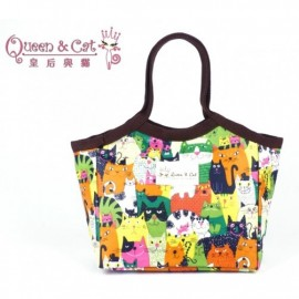 image of Queen And Cat Waterproof Small Lady Bag with Buckle