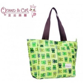 image of Queen And Cat Waterproof Mummy Bag (Green Frog Printing)