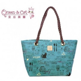 image of Queen And Cat Waterproof Weave Shoulder Bag