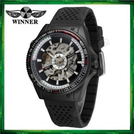 image of WM07 Winner Automatic Mechanical Skeleton Watches Men watch Sport Silicone Band