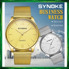 image of SYNOKE 3619 Men Watch Brand Watches Band Quartz Wristwatch jam tangan