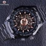 4GL FM01 Forsining Watch Men Automatic Mechanical Skeleton Vintage Watch