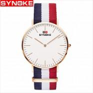 image of Synoke 3601 Simple Ultra-thin Quartz Watch Classic Nylon Strap Jam Tangan