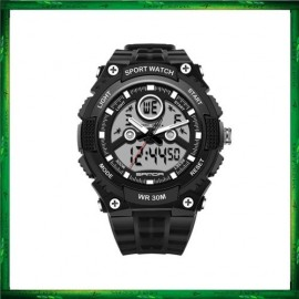 image of Sanda 709 Dual Display 30M Waterproof Sport Military LED Digital Watch