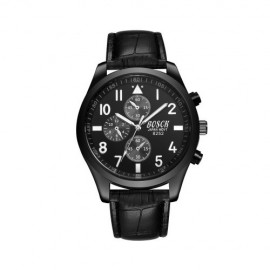 image of 4GL BOSCK Men's Business Casual Sports Leather Waterproof Watch 8252