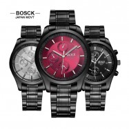 image of 4GL BOSCK Men's Business Casual Sports Steel Jam Tangan Watch 8251