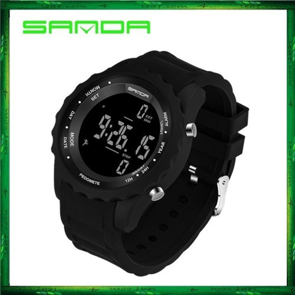 Sanda 370 Casual Men Sport Waterproof Counter Shock Wristwatch