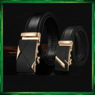 image of Business LB Men Leather Automatic Buckle Belts Luxury Belt