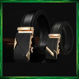 image of Business LB Men Leather Automatic Buckle Belts Luxury Belt