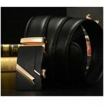 Business LB Men Leather Automatic Buckle Belts Luxury Belt