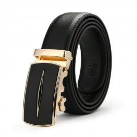 image of Business YK Men Leather Automatic Buckle Belts Luxury Belt