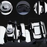 Business YK Men Leather Automatic Buckle Belts Luxury Belt