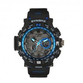 image of 4GL SYNOKE Double display watch men sports watch 50M Waterproof 6509