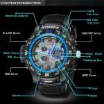 4GL SYNOKE Double display watch men sports watch 50M Waterproof 6509