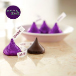 Chocolate HERSHEYS Kisses Special Dark Mildly Sweet Chocolate 1 Piece Coklat