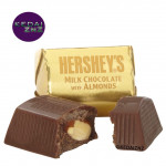 Chocolate HERSHEYS Nuggets Milk Chocolate with Almonds Bag 299g Coklat