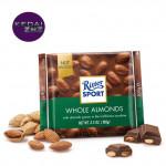 Chocolate Ritter SPORT Whole Almonds Chocolate Bar 100g Coklat