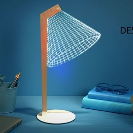 image of 2D/3D LED Table Lamp