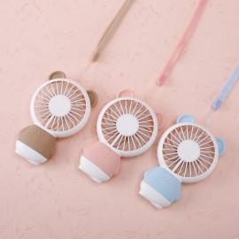 image of Rechargeable table fan mini fan portable fan cooling fan 3 speed LED light