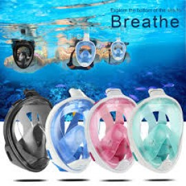 image of Snorkeling Full Face Mask Surface Dry Diving Glasses gopro