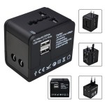 2.1A/1.0A Dual USBPort 5in1 Universal International Travel Adapter
