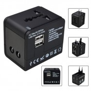 image of 2.1A/1.0A Dual USBPort 5in1 Universal International Travel Adapter