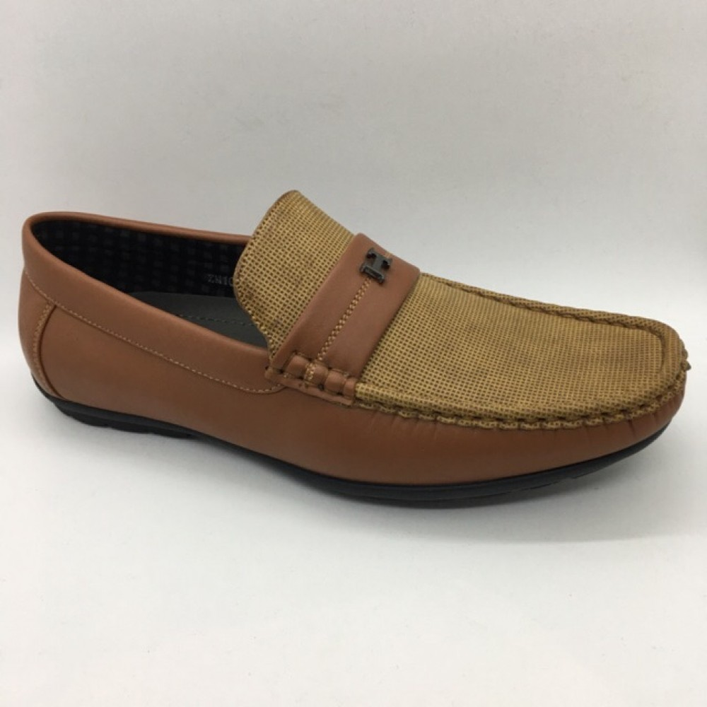 Men Shoes Brown Khaki Colour Business Casual Loafers Slip On. ZORO