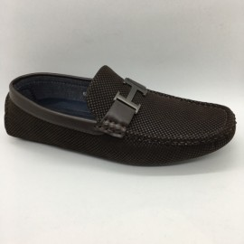 image of Men Shoes Coffee Colour Business Casual Loafers Slip On. ZORO