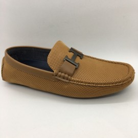 image of Men Shoes Brown Khaki Colour Business Casual Loafers Slip On. ZORO